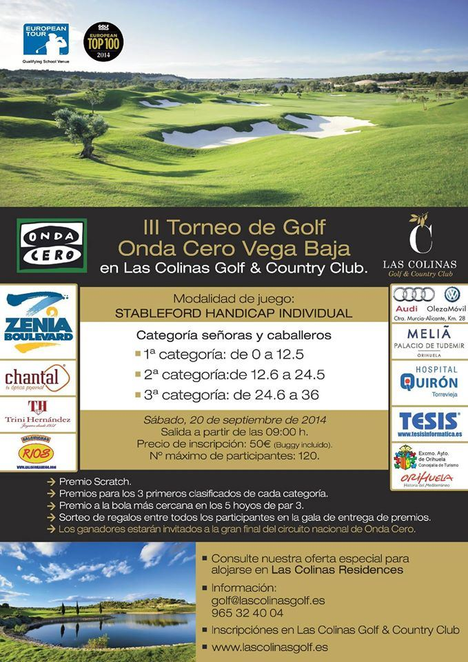Torneo III Torneo de Golf Onda Cero Vega Baja