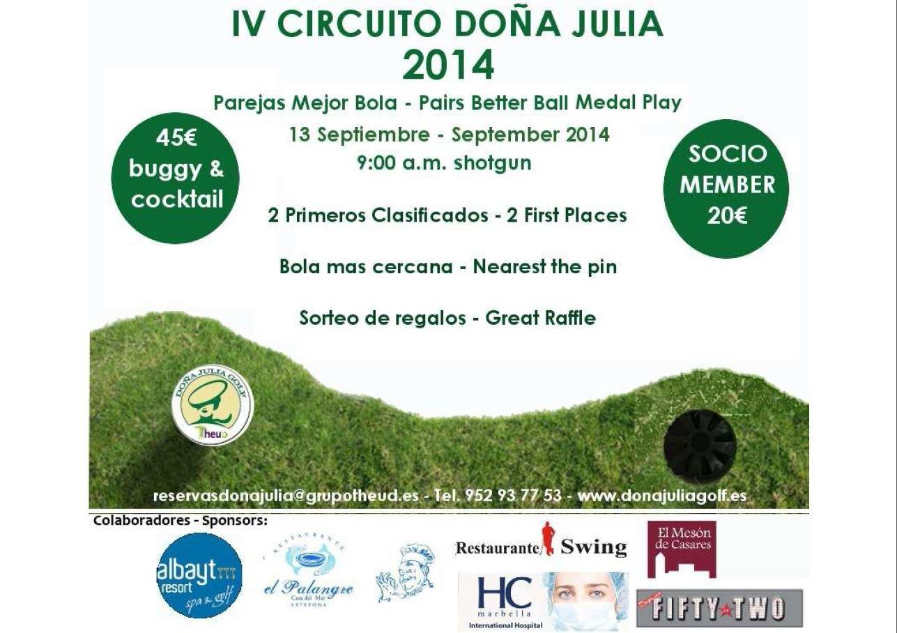Torneo IV Torneo del Circuito Doña Julia Golf